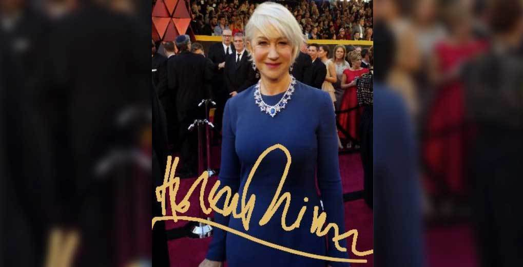 Photo of Actress on red carpet with signature on image