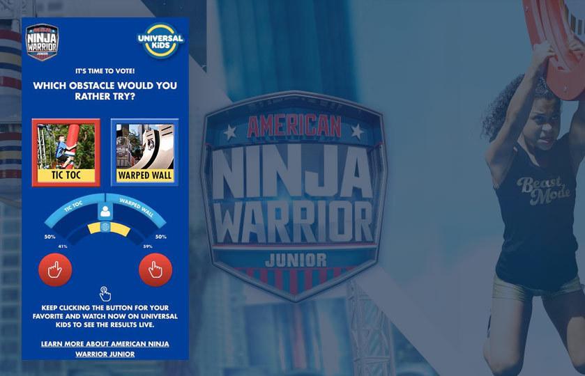 American Ninja warrior Junior passion meter
