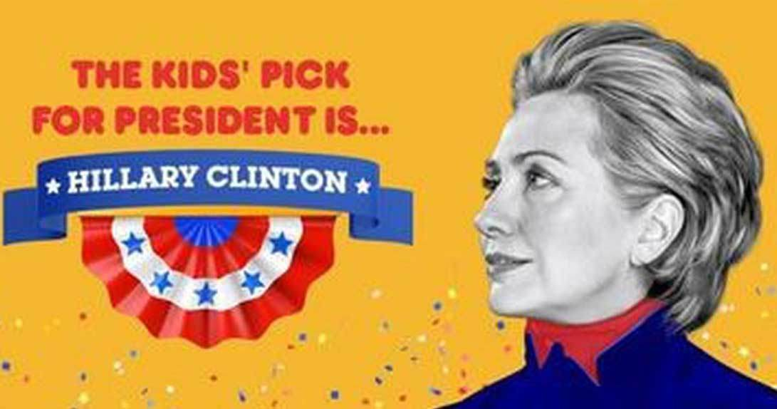 KPP voting result page showing Hillary Clinton