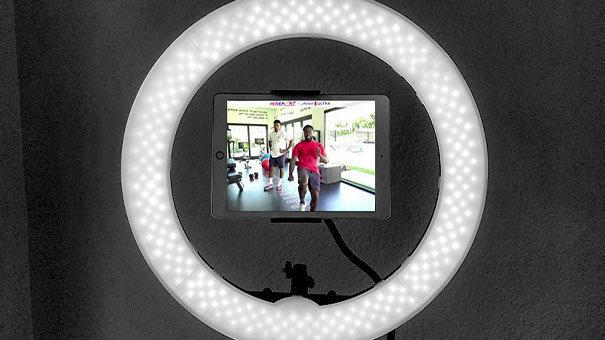 michelob live stream in ring light eqipment