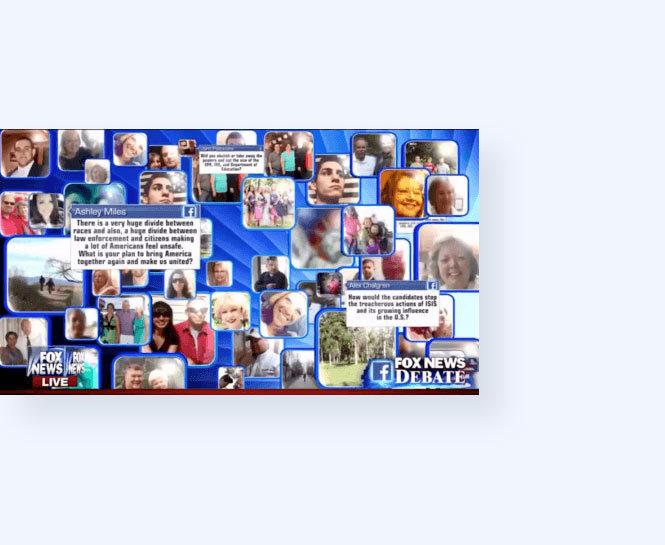 On-Air Integration of Fox News Uploader Facebook profile photos