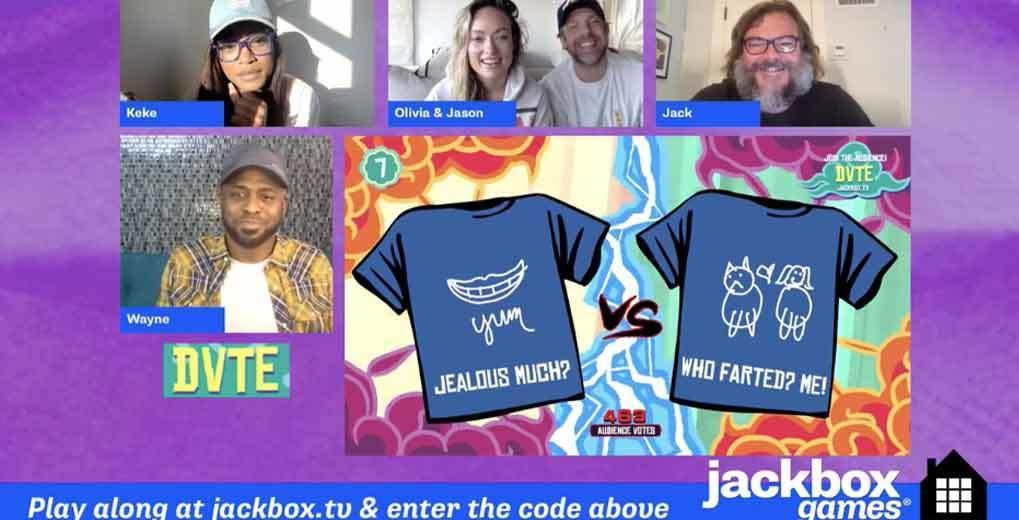 celebrities playing jackbox games