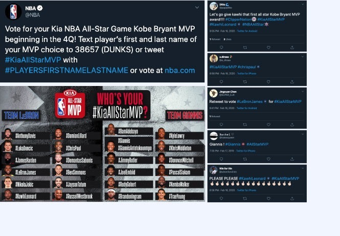 NBA All-Star hashtag voting