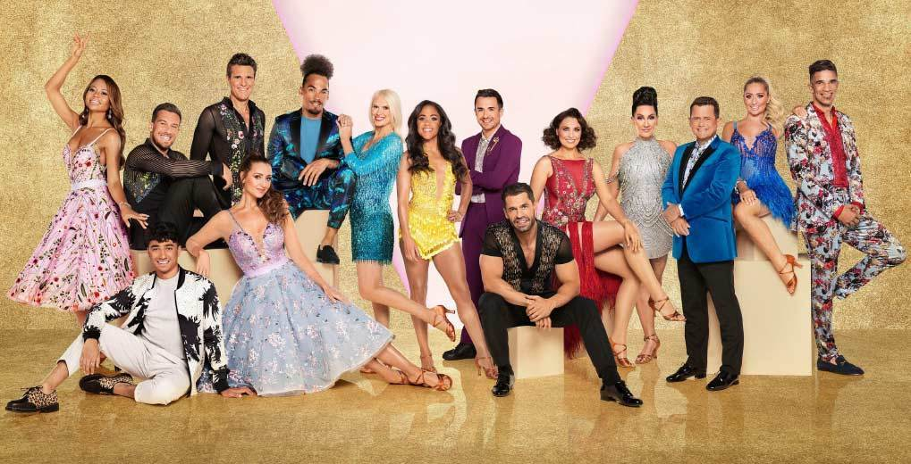 Strictly Come Dancing cast posing