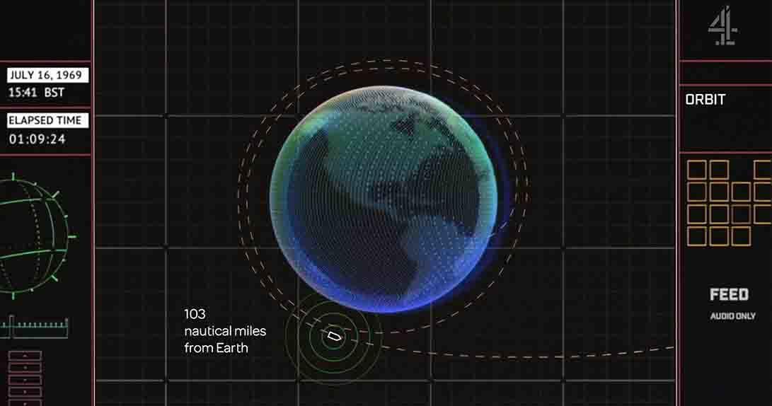 live stream image of orbit path