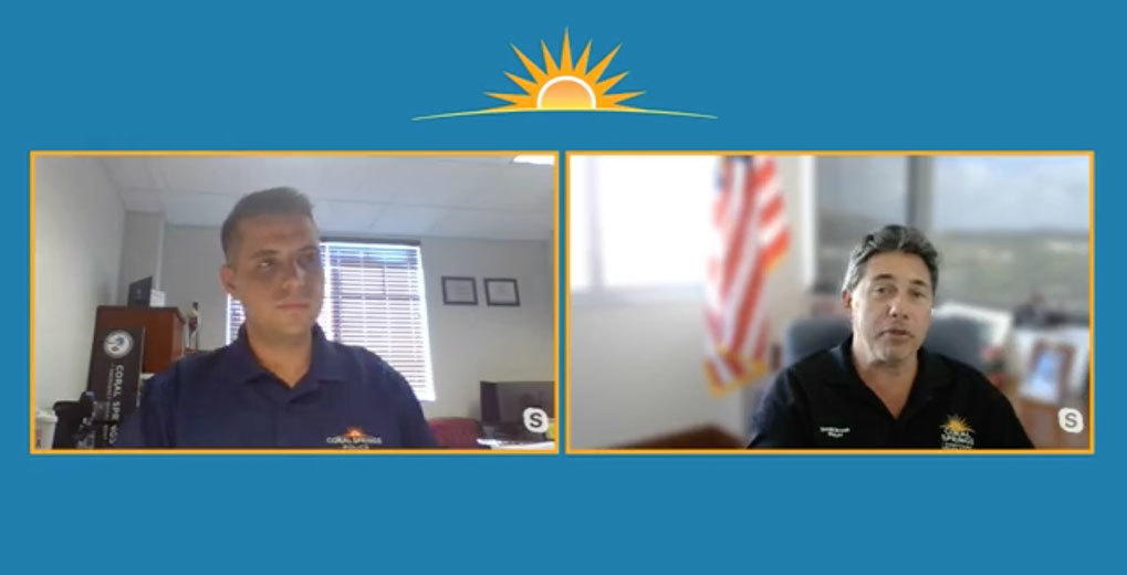 Mayor of Coral Springs and crisis management council member discuss community updates via Live Studio and Skype