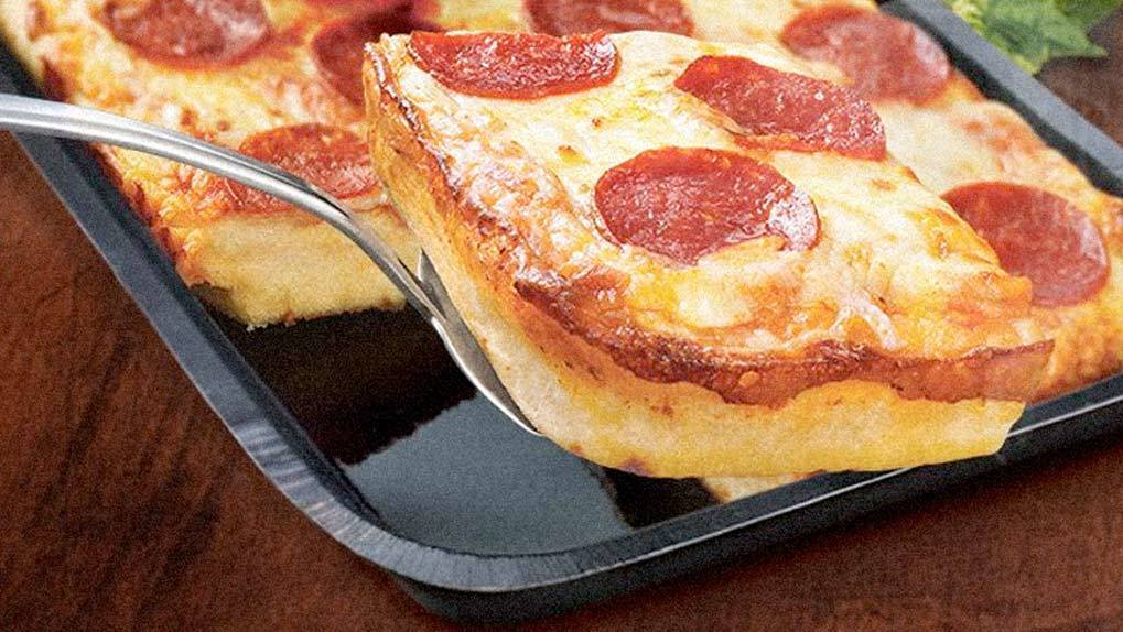 Closeup of DiGiorno pizza