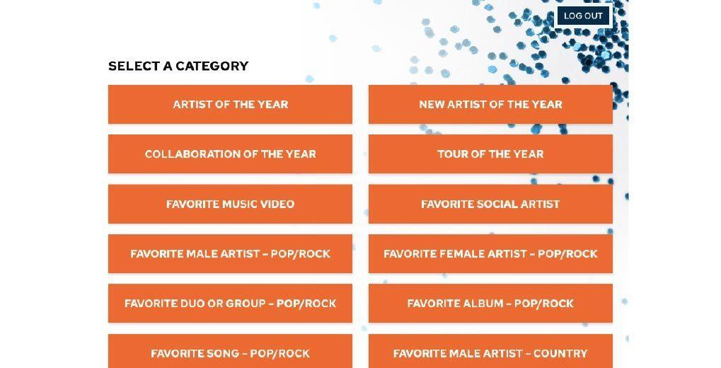 Online AMA voting categories