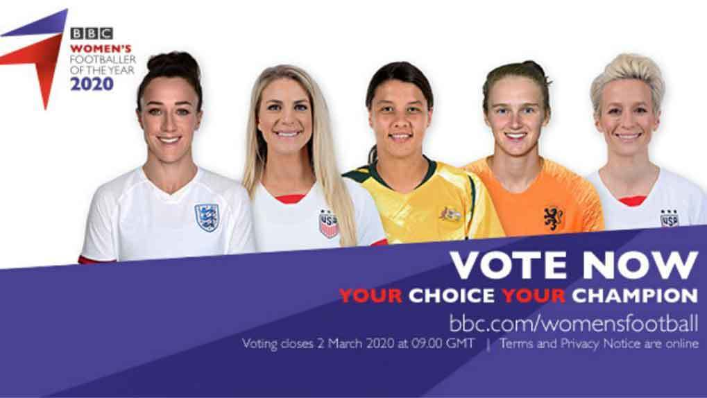 promotional image for Women's Footballer of the Year 2020 vote
