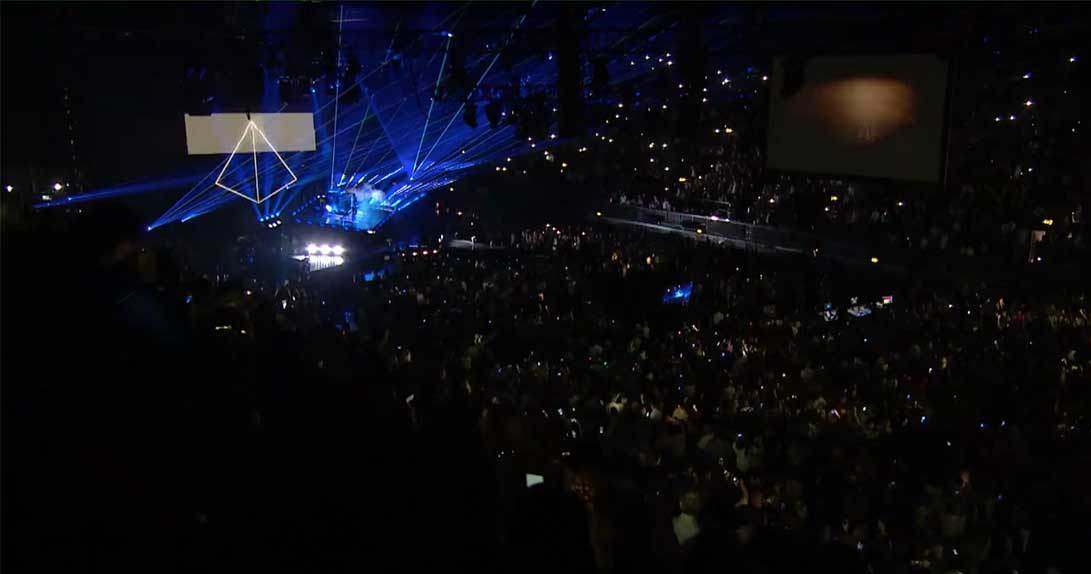 Wide shot of X Factor stage