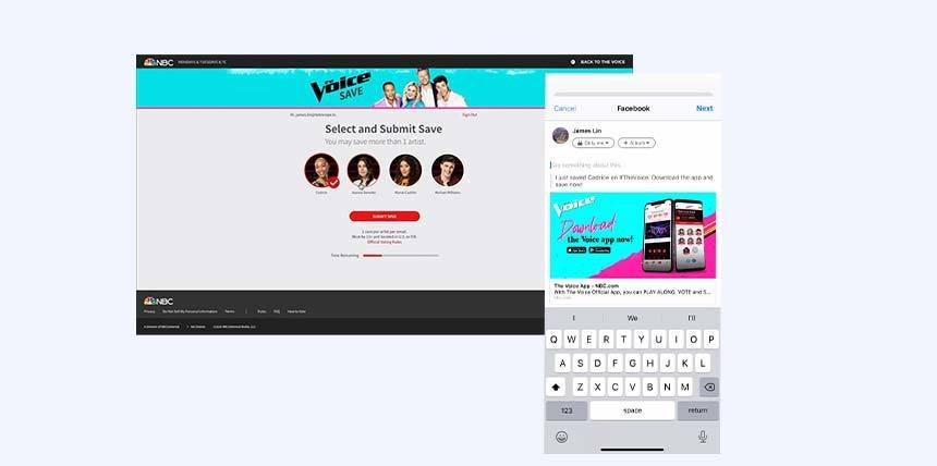 The Voice instant save vote