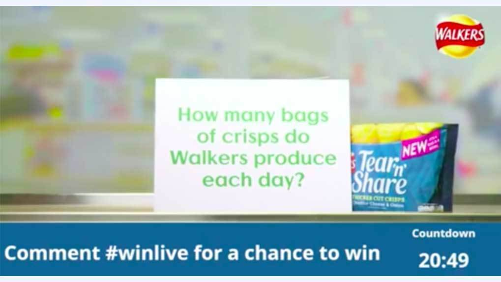Walker's live stream sweepstakes #WinLive stream image
