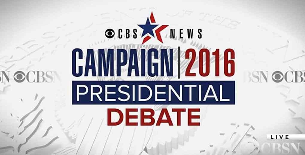CBS Presidential Debate promo