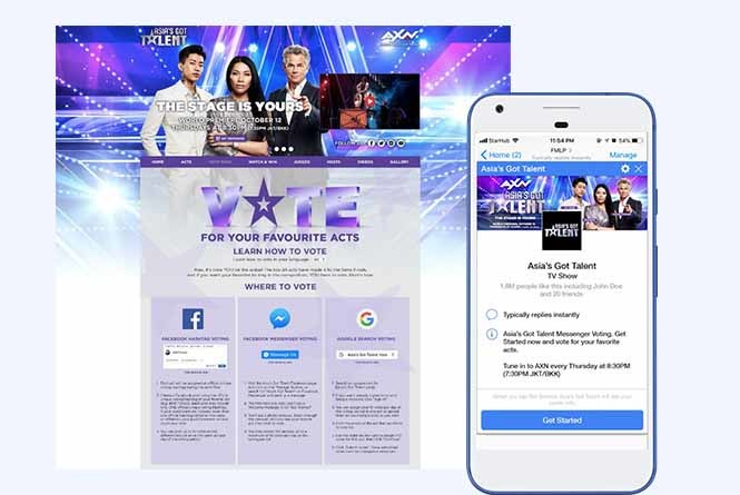 Online voting desktop and mobile view