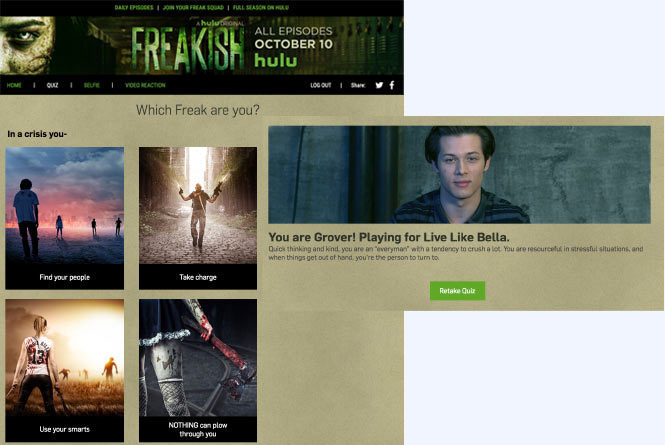 Freakish Quiz to find out which of the characters you are most like.