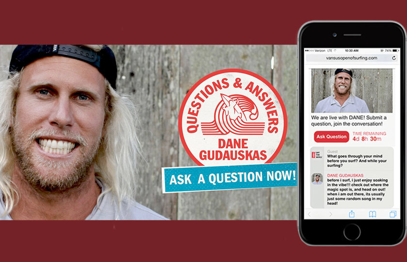 Sociable Q&A at the Vans Surf Open with surfer Dan Gudauskas