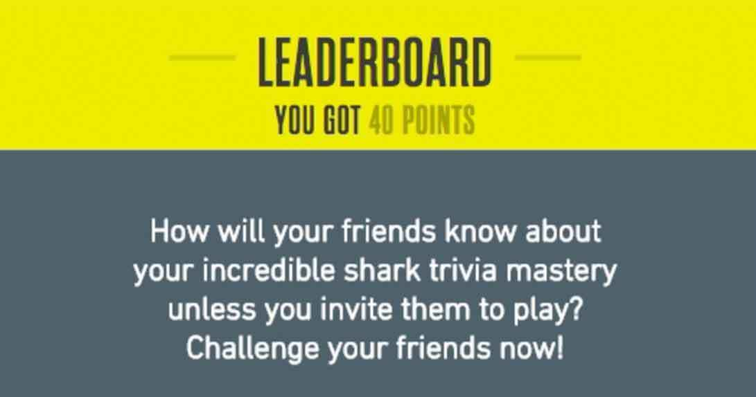 Final score and prompt to invite friends to play