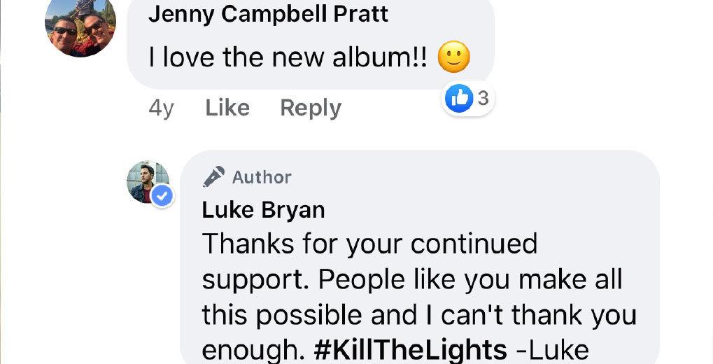FB comments about autograph
