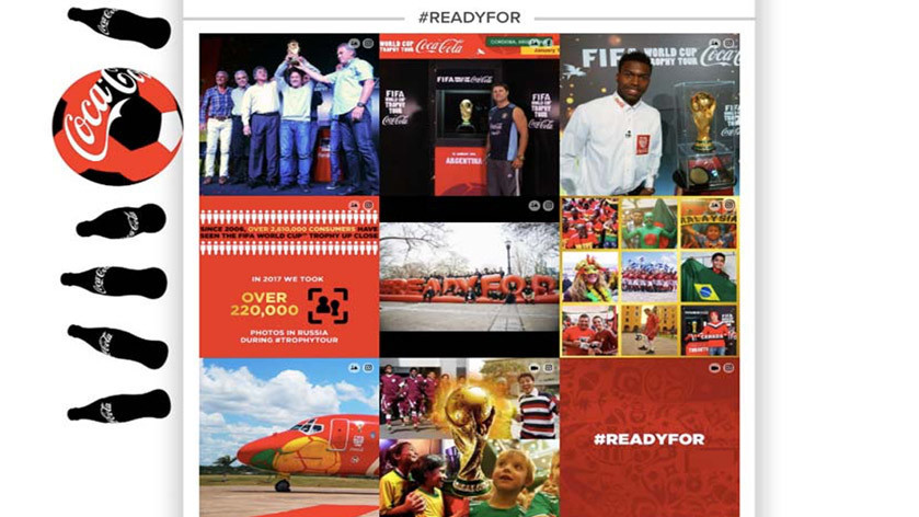 Coca Cola Fan Feed for the world cup in 2018