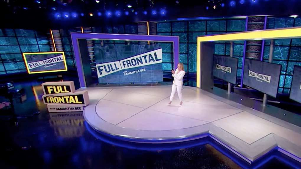 Sam Bee on Full Frontal stage