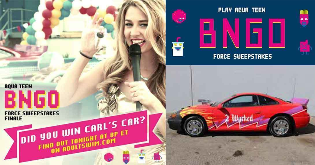 promotion poster and image of car for prizing