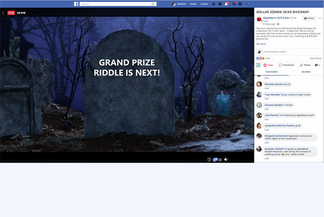 live stream call to action for riddle prize