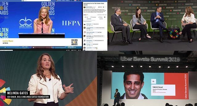 Uber elevate summit 2019 live stream and golden globe awards live stream and melinda gates and goalkeeper live stream
