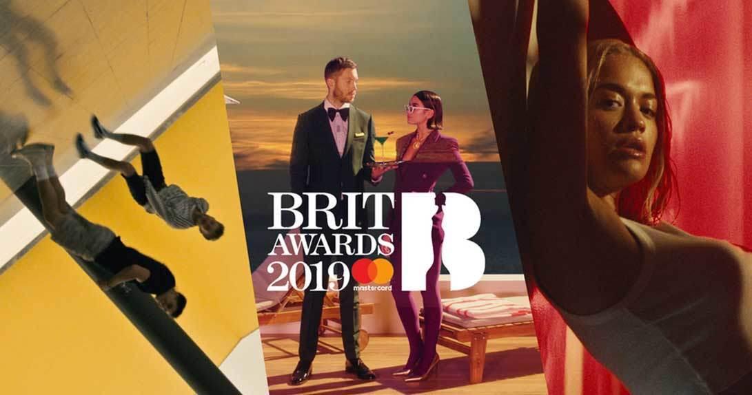 BRIT awards promo image with Mastercard logo