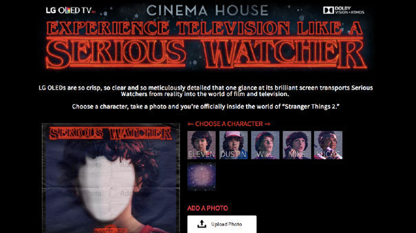 Stranger Things uPic where users could insert their photo into one of the Stranger Things Kids' faces