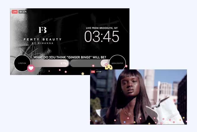 FB live stream countdown clock screen and model
