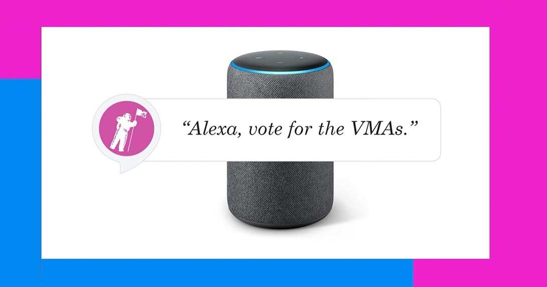 CTA with Amazon Alexa that tells users to vote