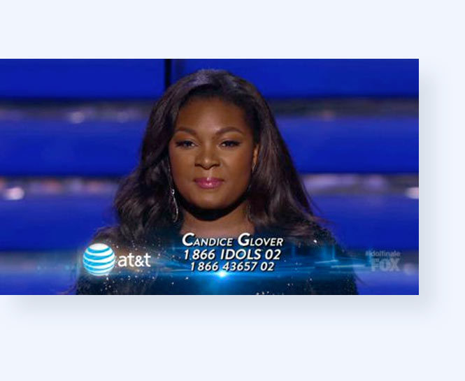 Toll-Free on-air CTA for American Idol