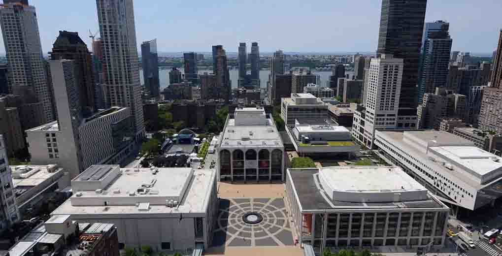 Aerial view of Lincoln Center