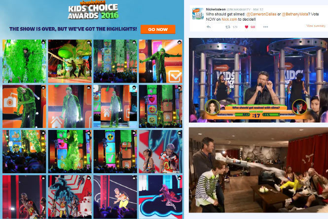 Fan feed with images from the show, twitter vote and images of poll and in show impact