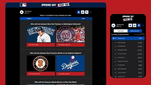 MLB predictor with Leaderboard