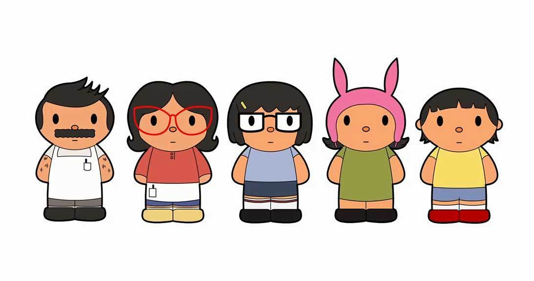 Fan art of Bob's Burgers characters
