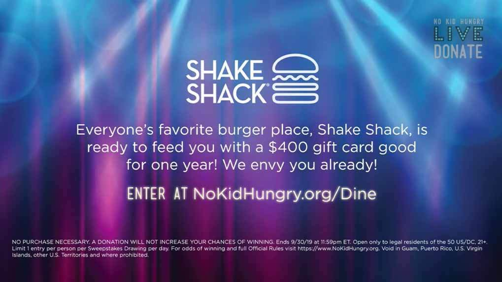donation cta with shake shack