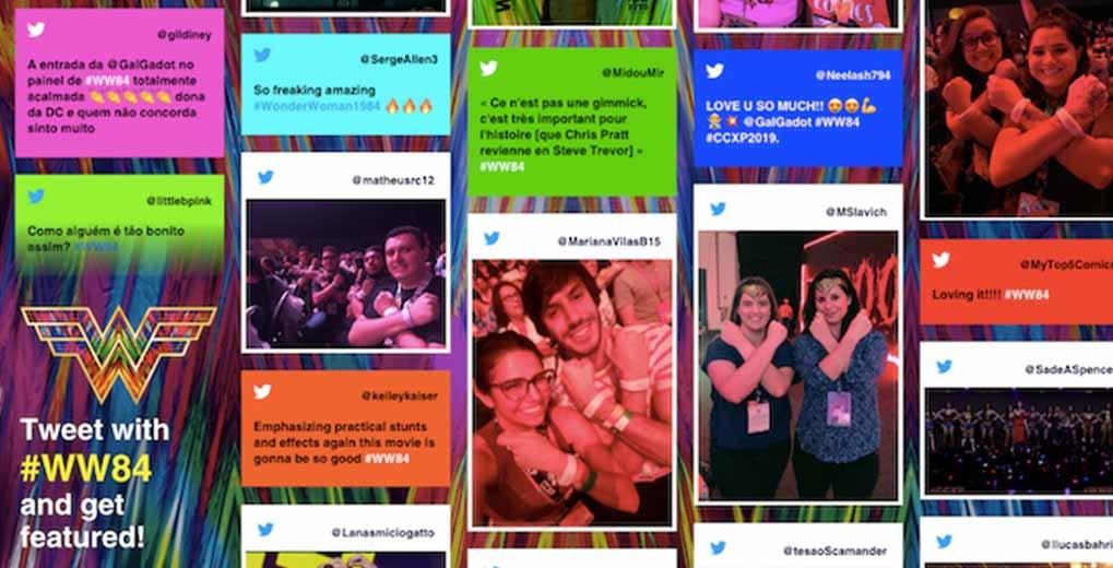 Custom Wonder Woman 1984 Fan Twitter Wall with content