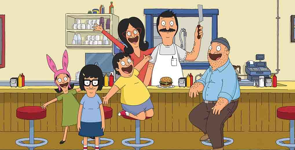 Bob's Burger characters smiling and posing