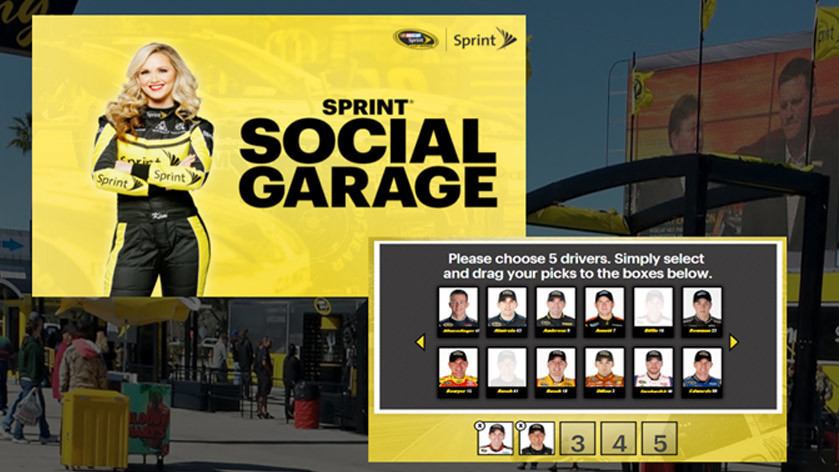 Image of native apps built for NASCAR with Sprint sponsorship