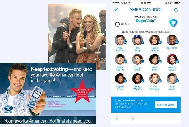 American Idol Supervote page where you can cast up to 50 votes per contestant