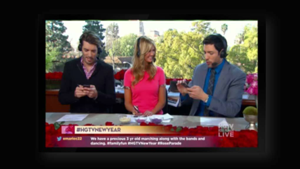 Rose Bowl parade commentators with comments to air