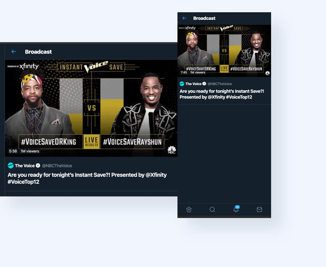Twitter live stream of the voice save