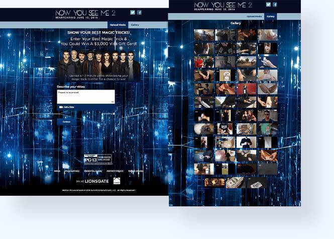 Now You See Me 2 media gallery and uploader form