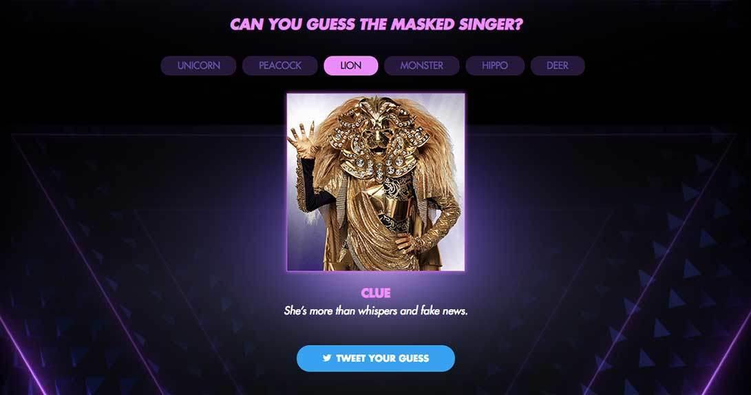 Masked Singer online hub guessing game
