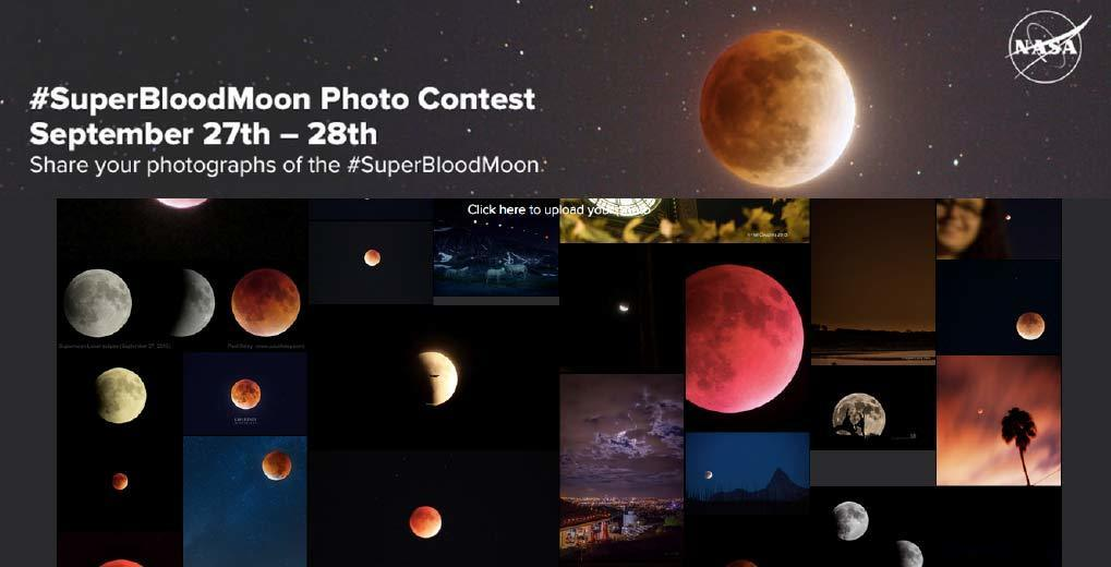 Super Blood Moon photo gallery landing page