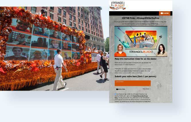 Orange is the New Black Pride Parade with videos from the uploader on parade float