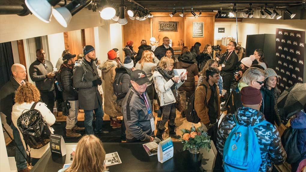 Image of a lot of people at the Francis Ford Coppola headquarters at Sundance