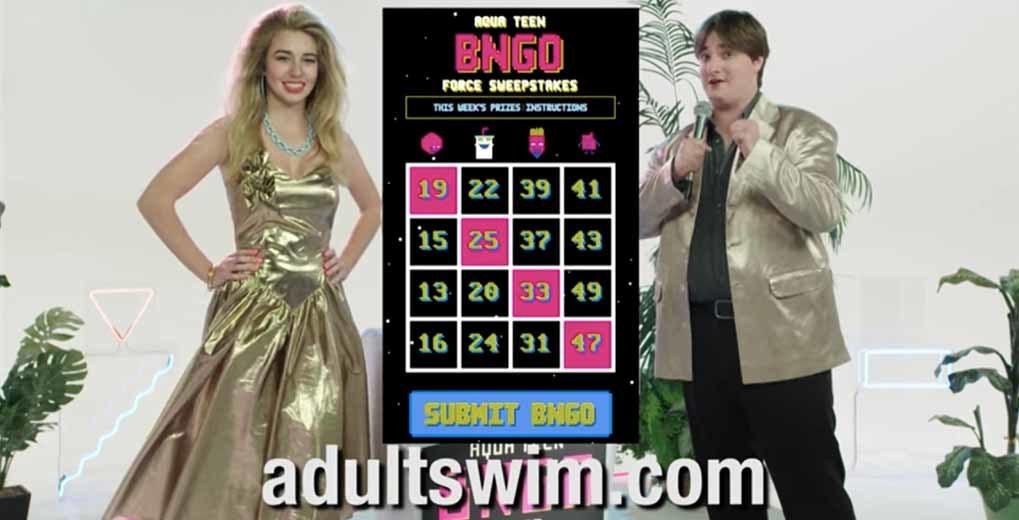 Adult Swim Aqua Teen Hunger Force Bingo Promo