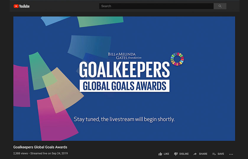 Graphic promoting Bill & Melinda Gates's Goalkeepers conference